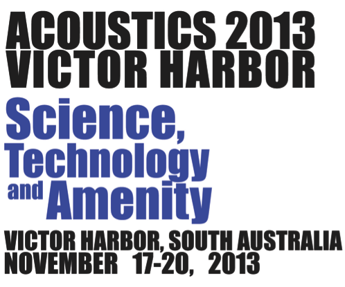 ACOUSTICS 2013 VICTOR HARBOR Science Technology and Amenity November 17-20, 2013